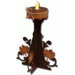 3d leaf tealight stand