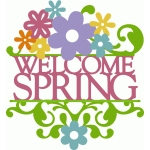 layered split damask - welcome spring