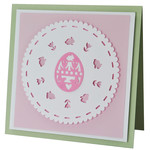easter egg doily card
