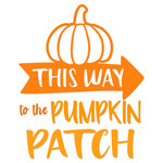 pumpkin patch arrow