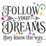 follow your dreams they know the way arrow quote