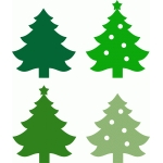 christmas trees set