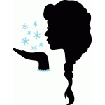 snow princess silhouette