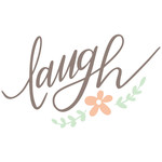 laugh handlettered