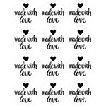 made with love stickers black