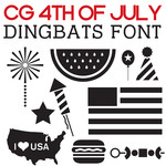 cg 4th of july dingbats