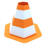 3d construction cone