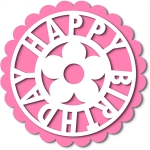 birthday tag topper flower