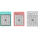 bingo card sheet - happy