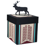 knitted deer gift box