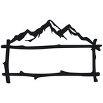 mountain branches frame