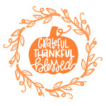 grateful thankful blessed pumpkin