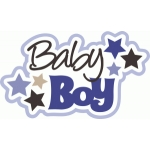 baby boy title with stars