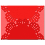 gate fold card eyelet lace edge