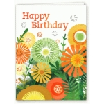 watercolor fall floral birthday card
