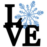 stacked love - snowflake phrase
