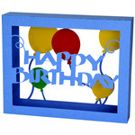 happy birthday balloons box card