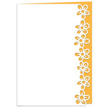 buttercups lace edged card