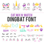 cat mix n' match dingbat font