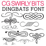cg swirly bits dingbats
