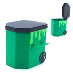 3d trash can box