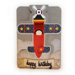 airplane happy birthday card 5x7 bi fold