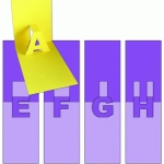 pop-up letters - e f g h