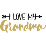 baby t-shirt: i love my grandma