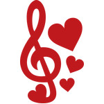 musical note love