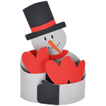 snowman hug bendi card