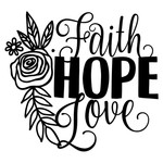 floral faith hope love
