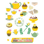 tea party planner stickers