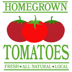 homegrown tomatos sign