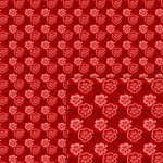 hibiscus red pattern