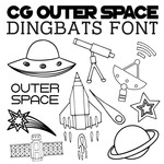 cg outer space dingbats