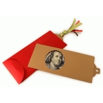 money gift $100 folder window envelope