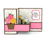 pop up box card flower pot