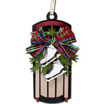 ice skates sled ornament gift tag