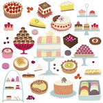 patisserie cakes stickers