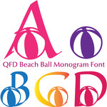 qfd beach ball monogram font