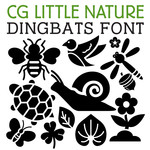 cg little nature dingbats