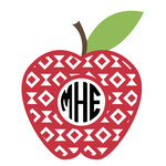 apple southwestern monogram frame