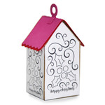 ml coloring house ornament - mistletoe