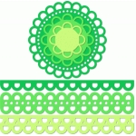 12 inch doily border set large open scallop edge