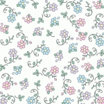 white floral printable pattern