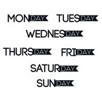 days of the week banner labels