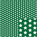 white on green star pattern