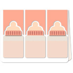 baby bottle trio a6 card