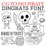 cg yo ho pirate dingbats