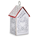 ml coloring house ornament - santa